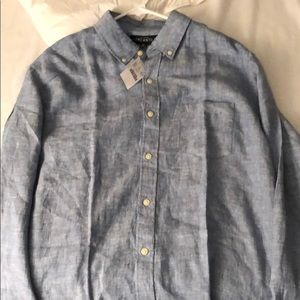 Men's J Crew Button Up Shirt Size Large, Brand New